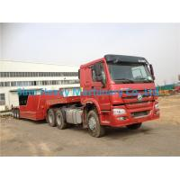 Buy cheap Red HOWO 2 Axles Semi Trailer Trucks , Flat Low Bed Trailer 30 Ton from wholesalers