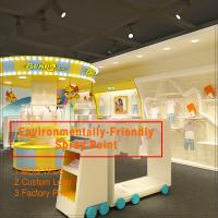 Wholesale Colorful baby clothes retail store interior and exterior design from china suppliers