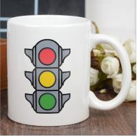 Quality Promotional Eco Friendly Mugs , Color Changing Coffee Cups Exquisite Traffic Logo for sale