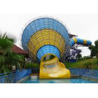 Wholesale Fiber Glass Steel Pipe Tornado Water Slide / Outdoor Adult Water Slides from china suppliers