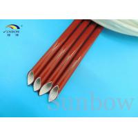 Buy cheap Elastomer Bonded To Silicone Fiberglass Sleeving High Temperature Wire Sleeve from wholesalers