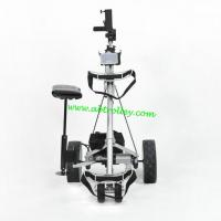 China Carbon golf trolley runs for 36 holes Golf Bag Cart of quite motors motorized golf trolley on sale