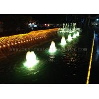 Wholesale Submercible Pump Outdoor Lighted Dancing Water Fountains With 24V / 12W RGB Light from china suppliers