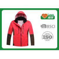 Wholesale Fashionable Style Womens Windbreaker Jackets With Hood Red Color  from china suppliers
