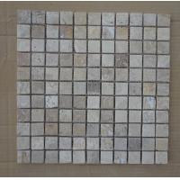 Wholesale Chinese Tumbled White Travertine Mosaic Wall Decoration China Travertine Mosaic Pattern from china suppliers