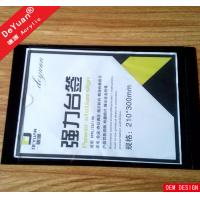 Wholesale Table Tent Paper Inserted Rectangle Acrylic Menu Holder With Black Base from china suppliers