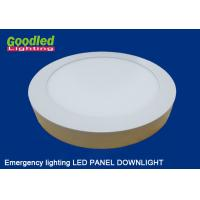 Wholesale Emergency Round / Square LED Ceiling Panel Light 15 watt 1100lm for Hotels, Restaurants from china suppliers