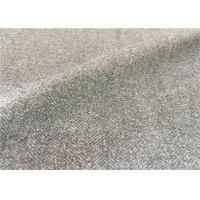 Wholesale Customized Mid - Grey Wool Suiting Fabric Anti Static Environment Friendly from china suppliers