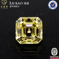 Quality 10mm 5A Grade Wholesale Prices White square asscher faceted cut cz gemstone cubic zirconia stone for sale