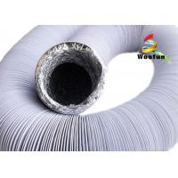 Wholesale Black And White Fire Rated Flexible Ducting , Round PVC / Aluminum Foil Combine Duct from china suppliers