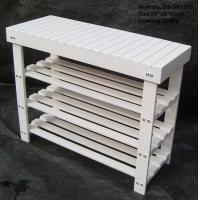 Wholesale Wood 2-tier Shoe Bench with OEM Orders Accepted from china suppliers