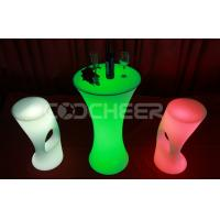 Wholesale Mordern PE Plastic Led Bar Stools Customized For Dining Room from china suppliers