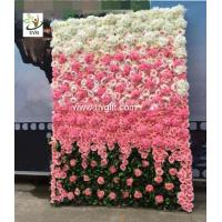 Wholesale UVG 6ft flower wall backdrop with white artificial rose and hydrangea for wedding decor from china suppliers