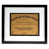 "Wholesale Modern Style Black And White Document Frame To Hold 8 1/2"" x 11"" Certification from china suppliers"