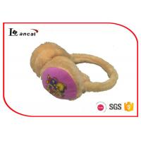 Wholesale Yellow Winter Warm Earmuffs With Print Cartoon Bear On The Outer Ear from china suppliers
