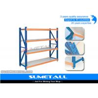 Quality Steel Medium Duty Long Span Shelving / Warehouse Storage Shelves Unit for sale