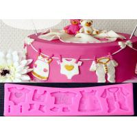 Wholesale Pink New Baby Cloth Shape 3D Cake Molds By Food Grade Silicone from china suppliers