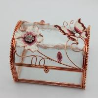 Wholesale Wedding Gifts Transparent Glass Jewelry Box from china suppliers