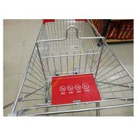 Quality Grocery Store Wire Shopping Trolley Metal Retail Carts 60L With Zinc Plated for sale