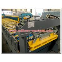 Wholesale Trapezoid Shape Steel Roofing / Wall Sheet Making Machine with Chrome Coated Rollers from china suppliers