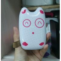 Wholesale 7800mAh Cute Plastic Power Bank Black White With Logo Print from china suppliers