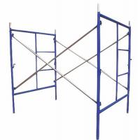 Wholesale Blue Painted Steel Q235 Frame Scaffolding System For Building Projects / Yard Construction from china suppliers