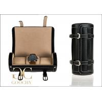 Wholesale Black Wrist Watch Organizer / PU Leather Watch Roll Travel Case For Triple Watch from china suppliers