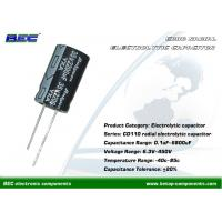 China CD110 Stable Performance 6.3V - 450V DC Radial Electrolytic Capacitor for Computer and Stereo on sale