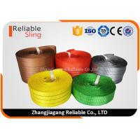 Wholesale Light weight Color Coded Polyester Cargo Webbing , 25mm-300mm Flat Webbing from china suppliers