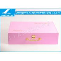 Wholesale Personalised Pink Suitcase With Sewing PU Leather Storage Packaging Box from china suppliers