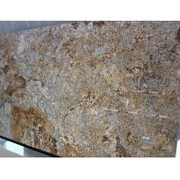 Quality Yellow Brown Granite Stone Slabs Granite Paving Slabs Polished for sale