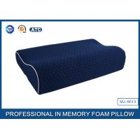Wholesale China Supplier Blue Memory Foam Support Pillow Contour Wave Shaped from china suppliers