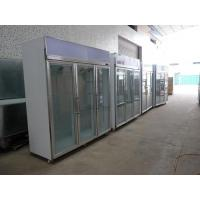 Wholesale Stainless Steel Upright Commercial Display Freezer -25°C With Vertical Light from china suppliers