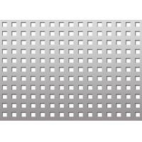 Wholesale OEM Square Perforated Sheet , Decorative Square Expanded Metal Provides Security from china suppliers