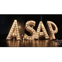 Wholesale Rustic Metal Lighted Vintage Letter Lights / Fairground Decor Light Bulb Letter Signs from china suppliers