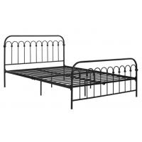 Wholesale Classic Home King Size Metal Bed French Style For Adult Black Iron Color from china suppliers