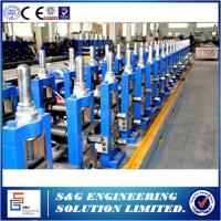 Wholesale Round Pipe Interlock standing Seam Roll Forming Machine 11KW Flying Saw Cutting from china suppliers
