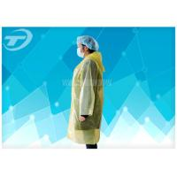Wholesale PE  Visitor Disposable Medical Garments With Polyethylene Fabric CE Certificated from china suppliers