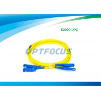 Wholesale Fiber Optic Patch Cable Passive Components E2000 UPC Fiber Optic Patch Cord from china suppliers