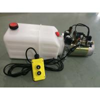 Quality High Performance  Dump Trailer Micro Hydraulic Power Packs With 8L Plastic Oil Tank for sale