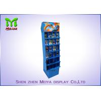 Wholesale Recyable Supermarket display rack 6 tiers floor cardboard  display stand for toy store with customized divisions from china suppliers