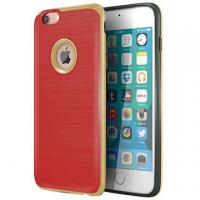 Quality Red TPU Hard PC Bumper Hybrid Protective Personalized Iphone Case Brushed Texture for sale