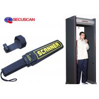 Wholesale Black Airport portable metal detector Super Handheld Body Scanner with Alarm for dangerous weapons from china suppliers