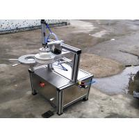 Wholesale Semi auto pleat wrapping machine with labeling function for packing hotel round soap from china suppliers