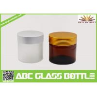 Wholesale 10ml 50ml 100ml 120ml 4oz Large Luxury Amber Frosted Cream Cosmetic Packaging Glass Jars Bottles With Metal Cap from china suppliers