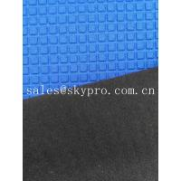 Wholesale Super Stretch Square Pattern Blue Neoprene Rubber Sheet Coated Nylon Fabric Roll from china suppliers