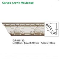 Buy cheap 2017 new style polyurethane foam architectural lightweight crown moulding pop ceiling design from wholesalers