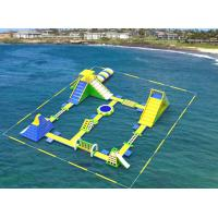 Wholesale Giant Inflatable Floating Water Games / Sea Inflatable Aqua Park With Trampoline from china suppliers