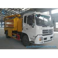 Wholesale Vacuum Suction Sewer Cleaning Truck Dual Axle DONGFENG 210hp from china suppliers