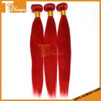 Wholesale 5A Brazilian Straight Red Hair Dye Colors Human Hair Extension from china suppliers